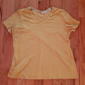 3X 2X Time and Tru yellow mustard vneck tee